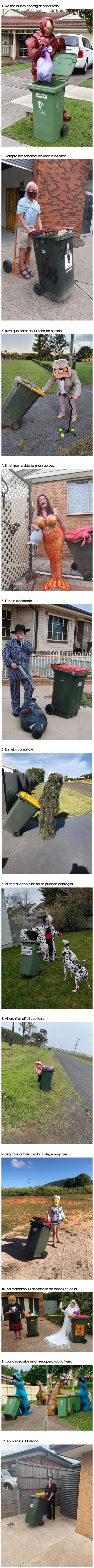 10692 - La gente en Australia se disfraza para sacar la basura y hacen la cuarentena divertida