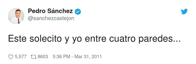 12197 - Me encantan los tweets antiguos de Pedro Sánchez, por @sanchezcastejon