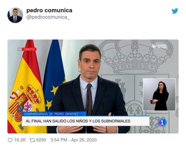 13445 - Pedro Sánchez a Pablo Iglesias mientras ve las imágenes de hoy..., por @pedrocomunica_