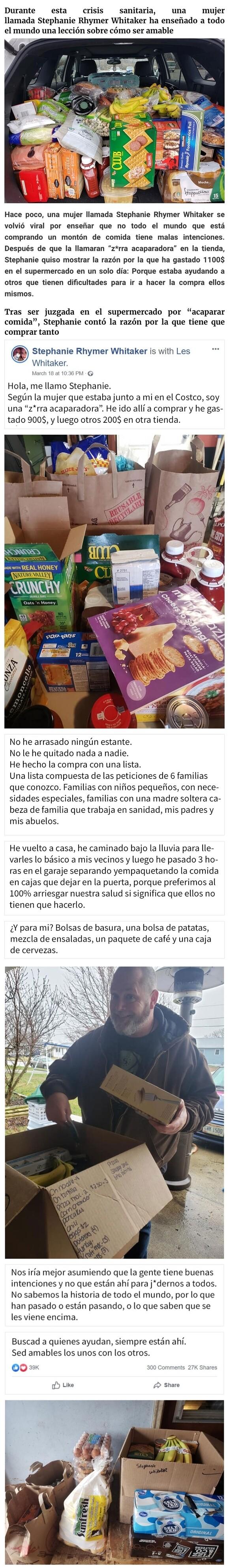 9331 - Esta mujer fue llamada acaparadora por gastar 1100$ en el supermercado, explica que está comprando para 6 familias