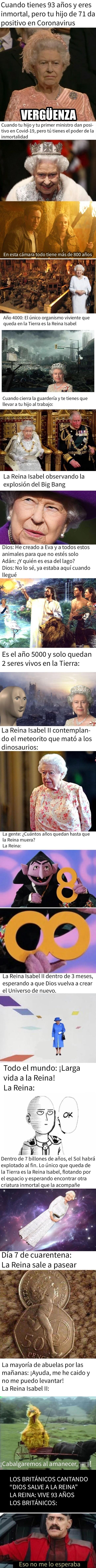 9649 - La gente se ha dado cuenta de que la Reina de Inglaterra es inmortal, y han creado algunos divertidos memes al respecto