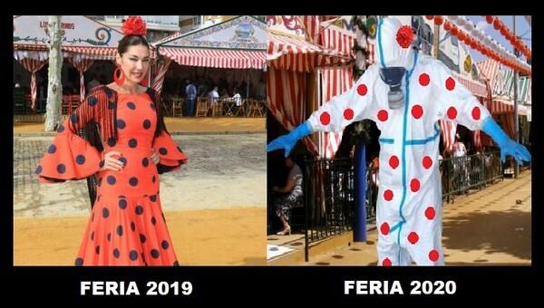 14734 - Cómo ha cambiado el traje de flamenca para las ferias de ahora a hace un año...