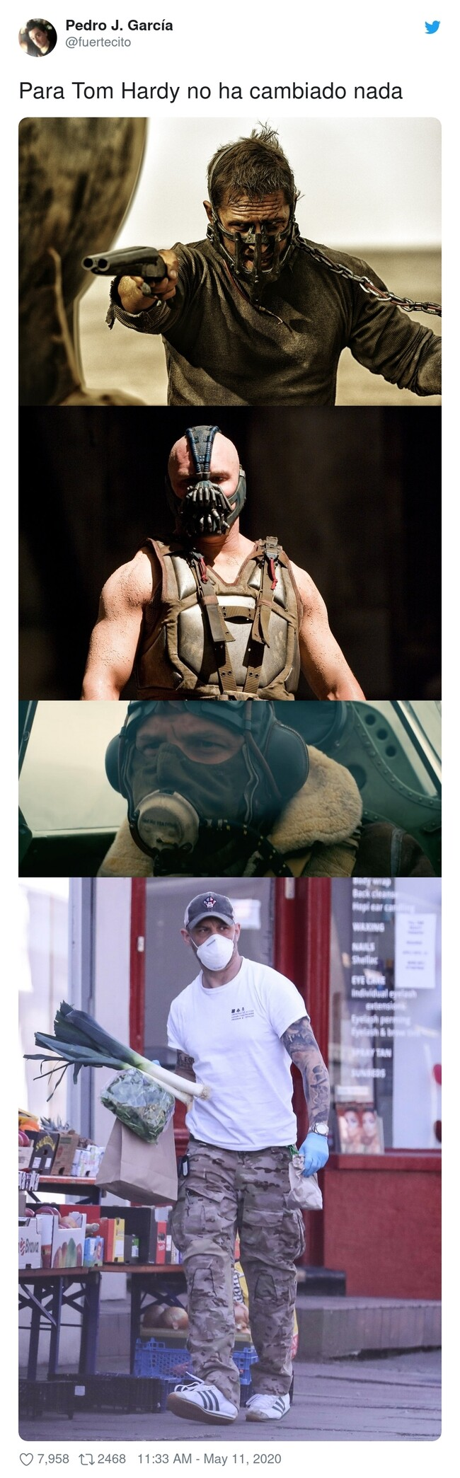 15758 - Primer famoso que usa máscara para que le reconozcan por la calle, por @fuertecito