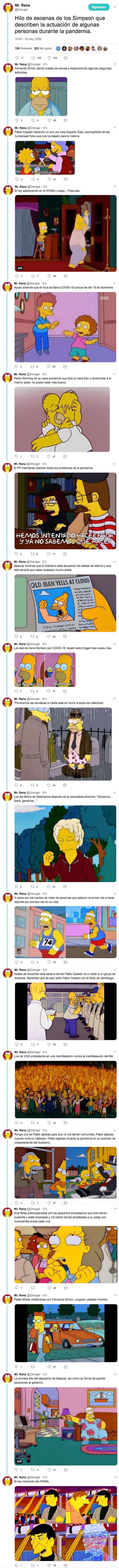 16030 - Hilo de escenas de los Simpson que describen la actuación de algunas personas durante la pandemia, por @Drengar