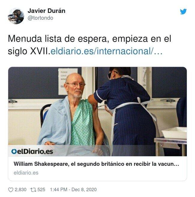 21103 - Dicen que aquí en España la primera persona en la lista de espera se llama Miguel Cervantes Saavedra, por @tortondo