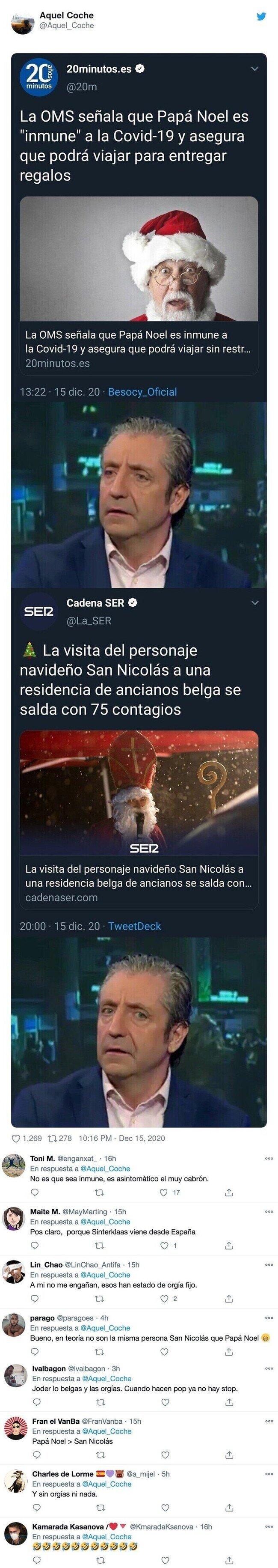 21182 - La OMS Dice que Papa Noel es inmune al coronavirus, y ojo al final de la historia porque no se podía saber, por @Aquel_Coche