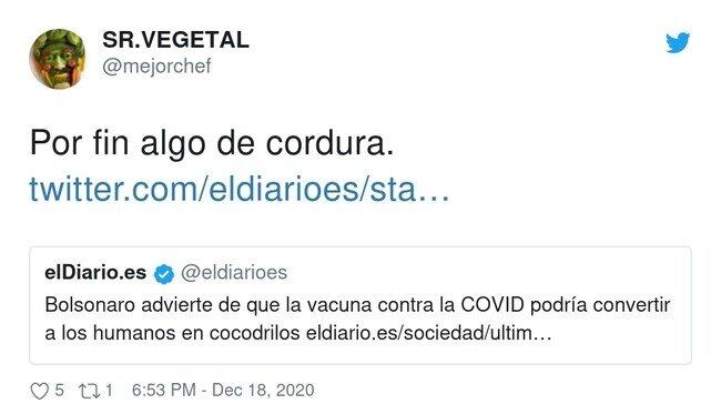 21222 - Todos reptilianos según Bolsonaro, por @mejorchef