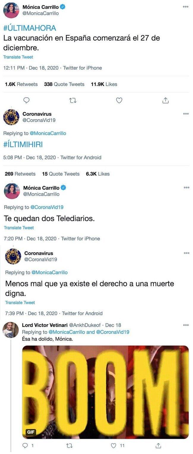 21257 - La hilarante conversación entre el coronavirus y la periodista Mónica Carrillo