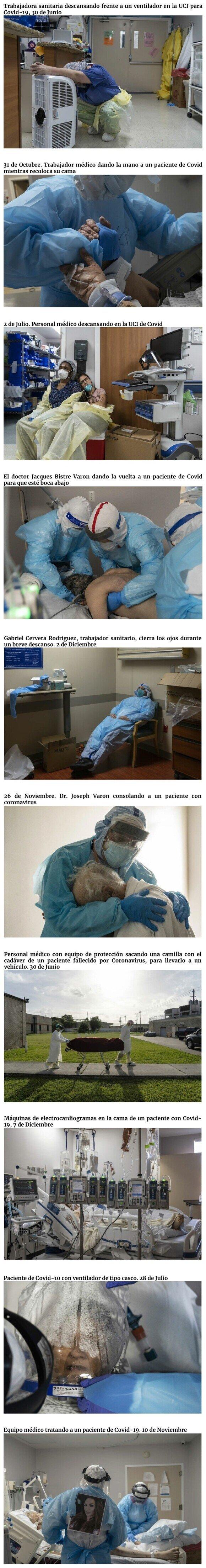 21286 - Fotos que muestran la realidad del Covid-19 en los hospitales