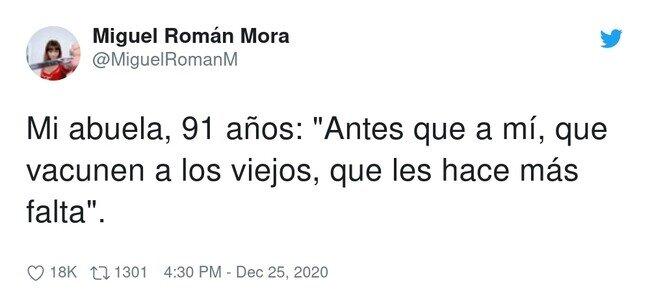21405 - Pues claro, es joven con 91, por @MiguelRomanM