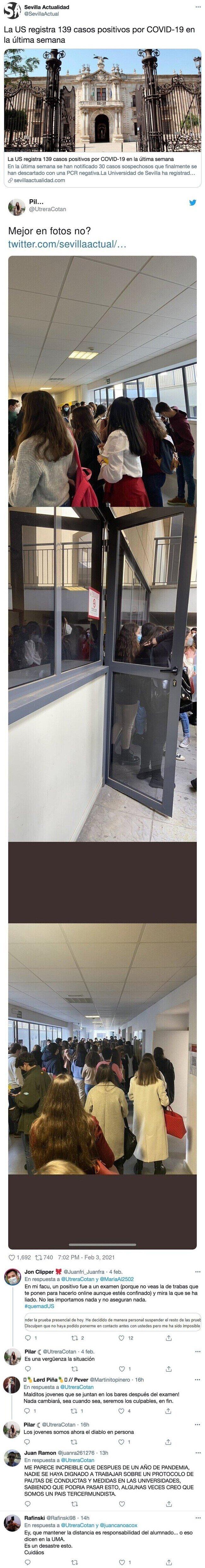 22177 - Los universitarios están indignadísimos después de ver estas fotos y el brote de contagios en la Universidad de Sevilla: y aquí está el porqué