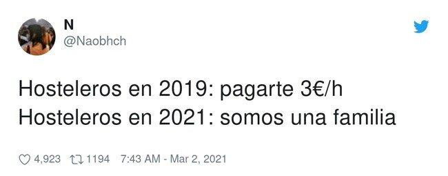 22427 - Hosteleros en 2019: Vamos muy justos, antes se trabajaba mucho más , por @Naobhch