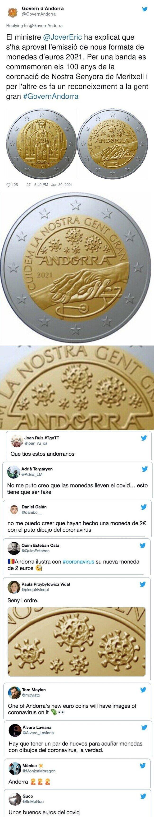 23541 - Todo el mundo está alucinando con la nueva moneda de dos euros de Andorra, y sí es lo que parece