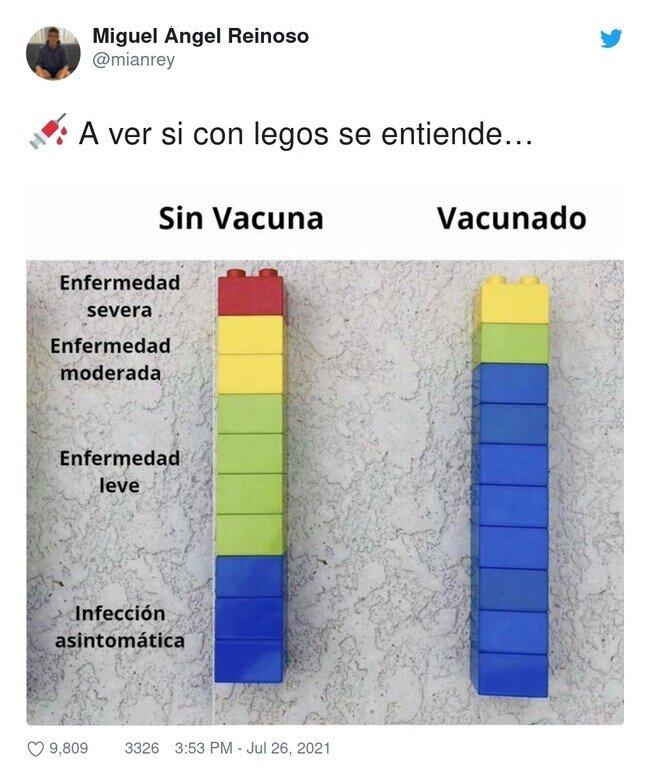 23667 - Años y años de investigación para vacunas y la gente solo lo puede entender con legos, por @mianrey