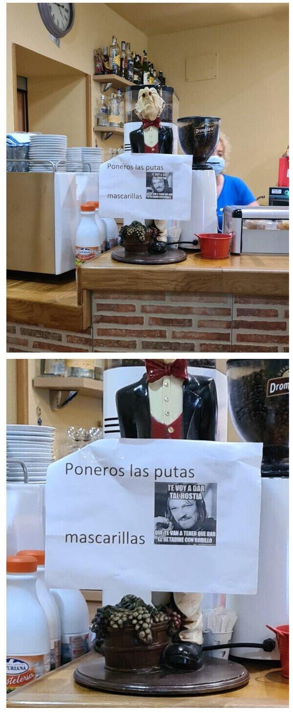 23768 - Visto ayer en una cafetería de Cantabria