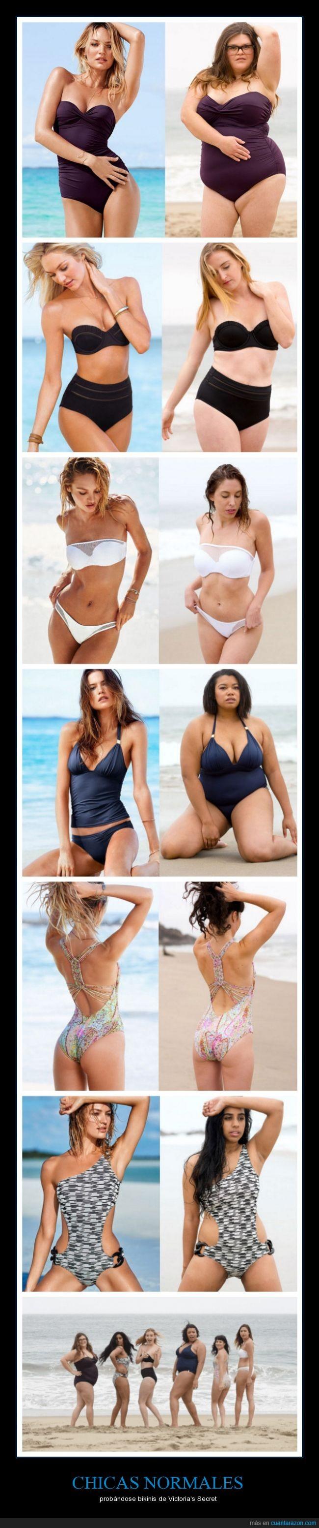 bañador,chicas,cuerpo,modelos,normales,victoria's secret