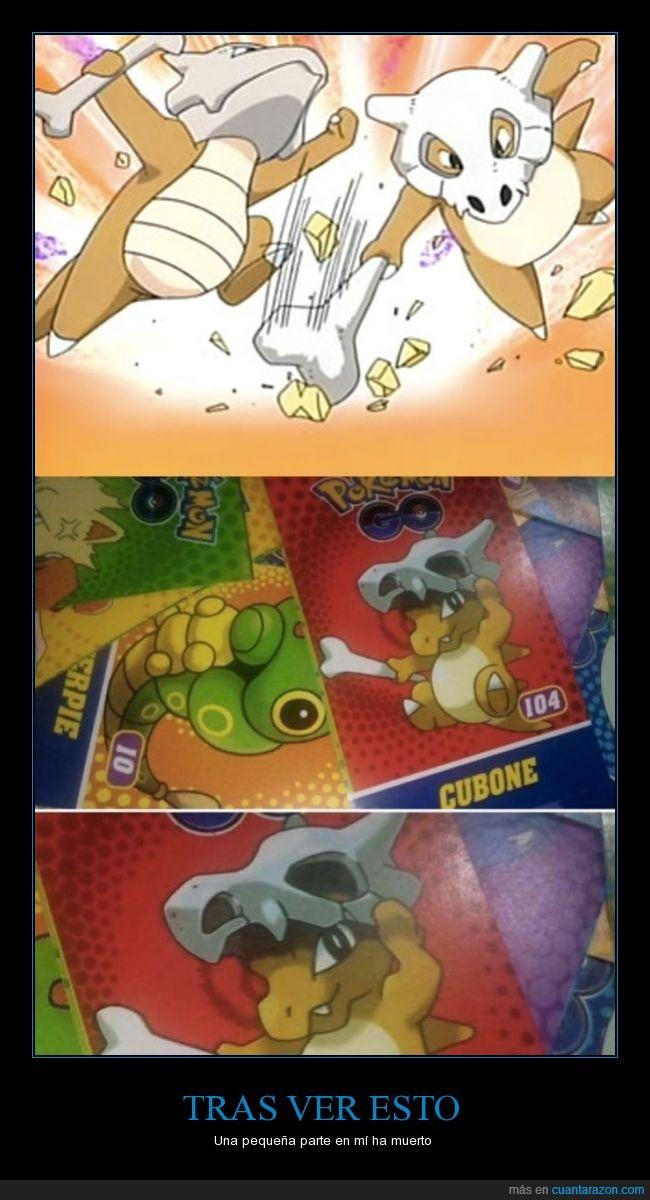 cartas,cubone,pokémon,rostro