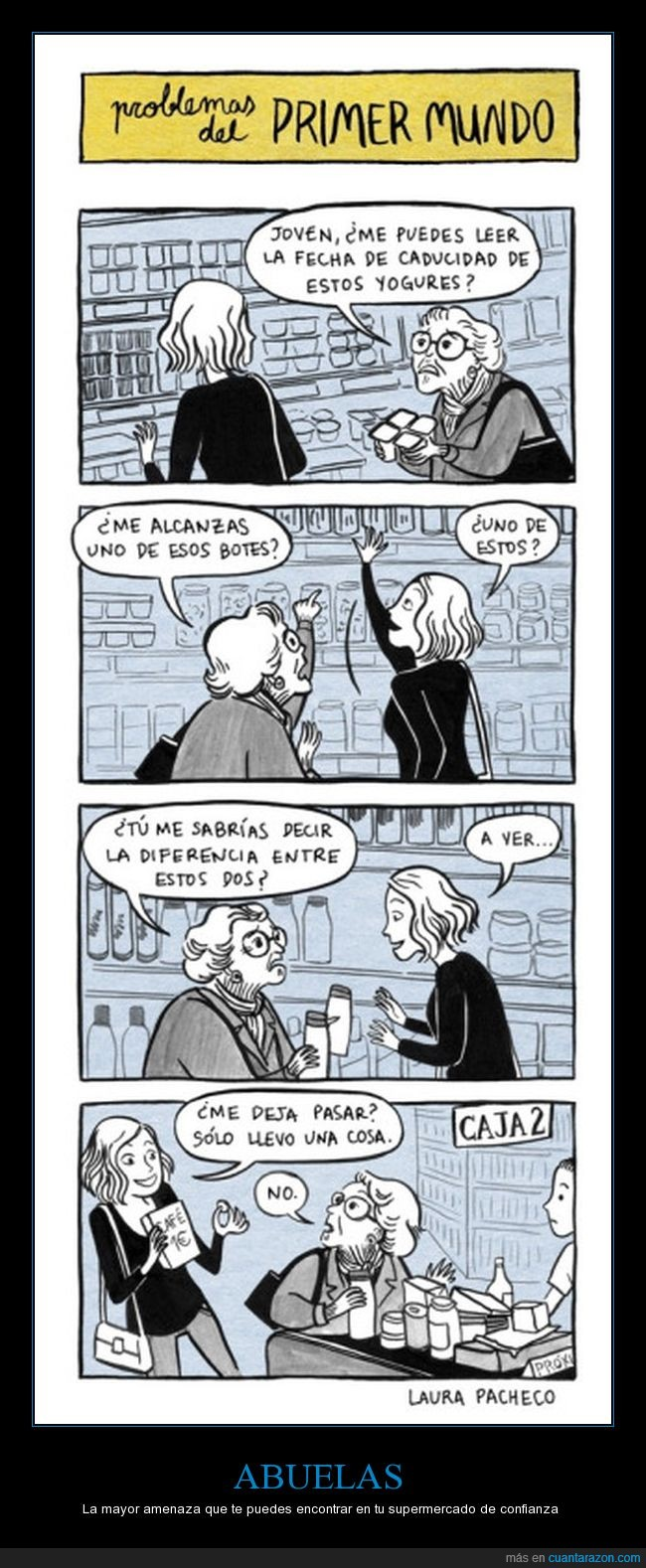 abuelas,cola,colarse,comprar