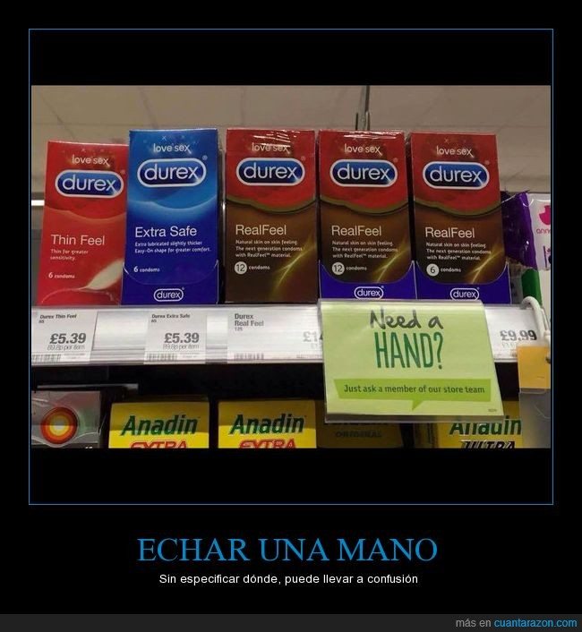 durex,need a hand,supermercado