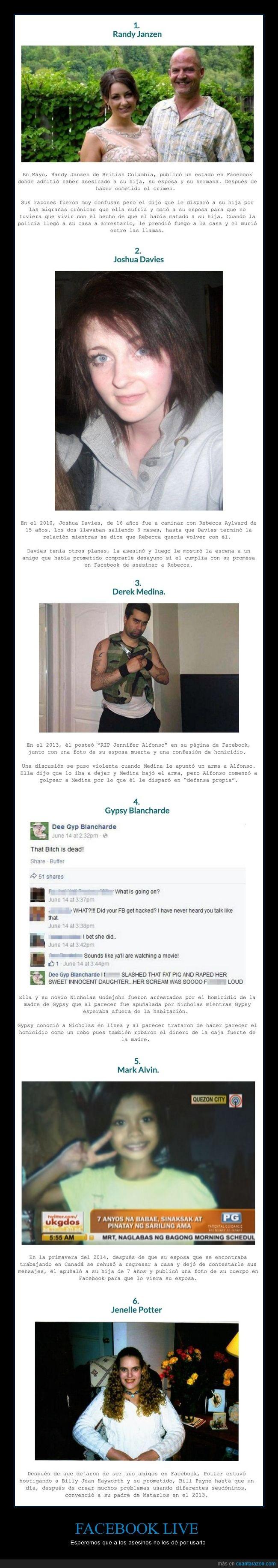 asesinos,compartir,dementes,facebook live,muertes,share