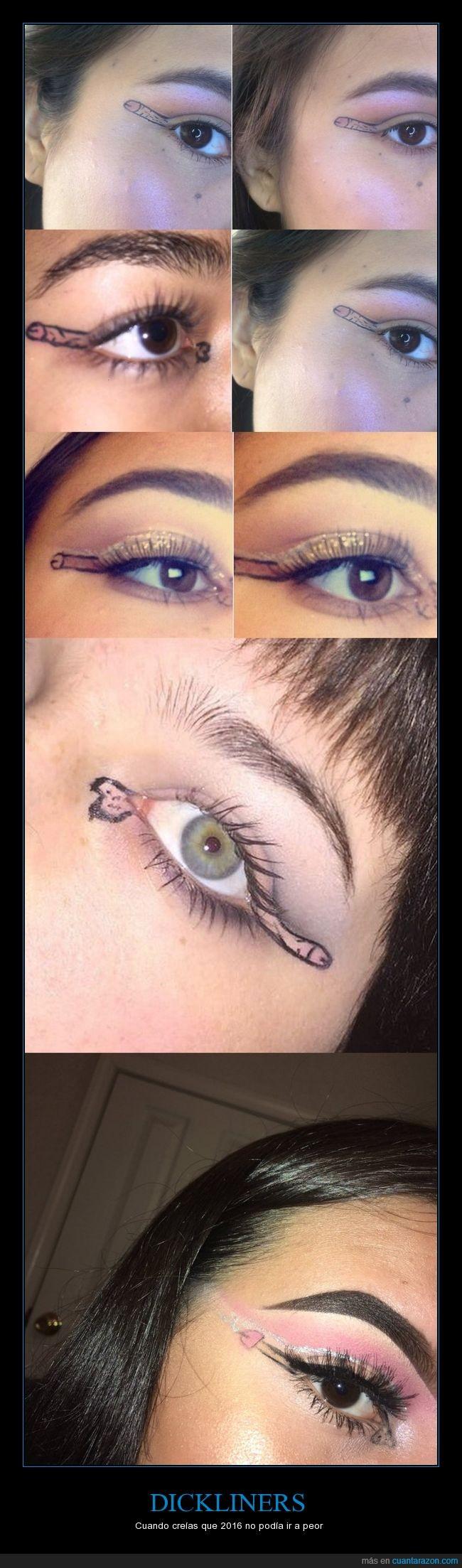 dickliners,maquillaje,ojos,por qué?,wtf