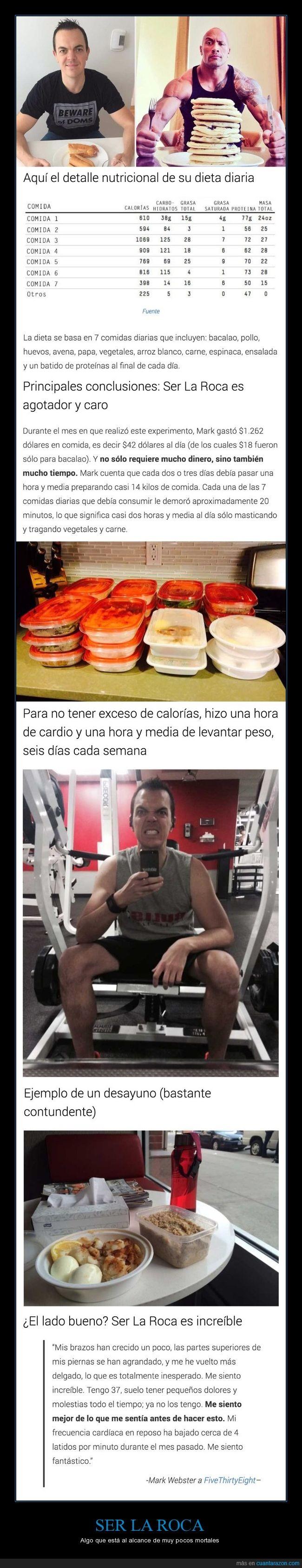 dieta,Dwayne Johnson,ejercicio,la roca