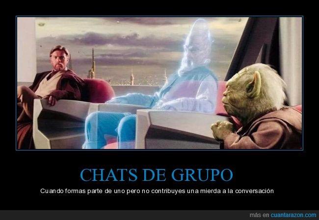 chat,contribuir,conversación,grupo,star wars