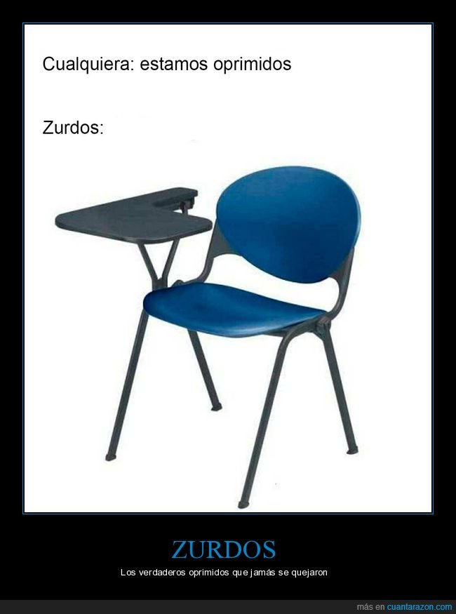 oprimidos,pupitre,silla,zurdos