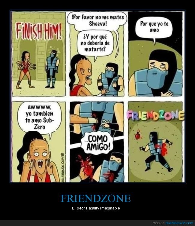 friendzone,mortal kombat,sheeva,sub zero