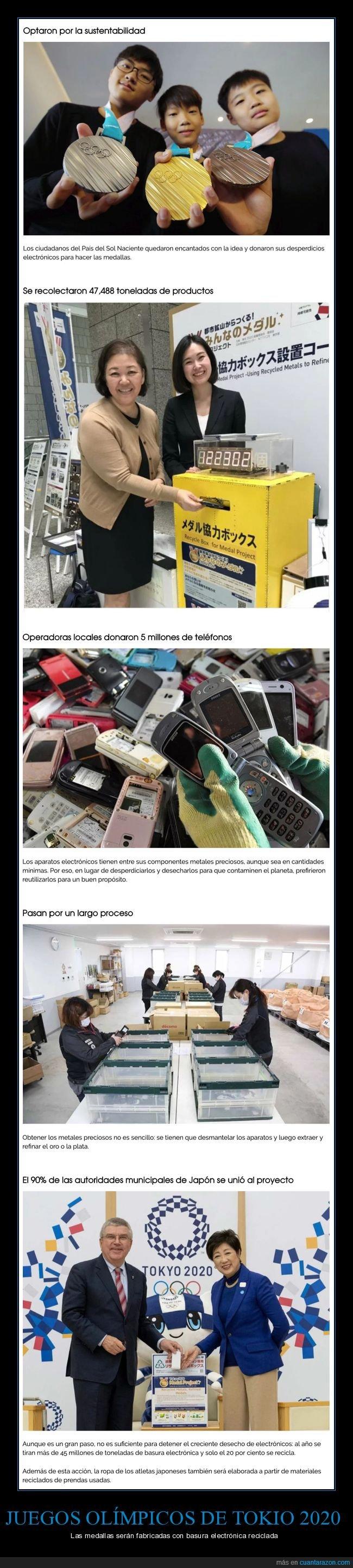 basura electrónica,juegos olímpicos,reciclaje,tokio 2020