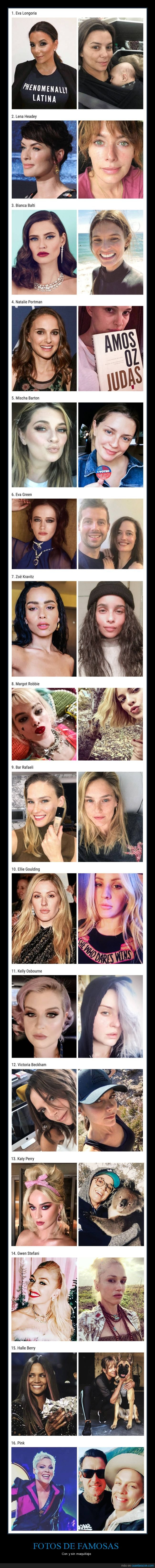 famosas,maquillaje