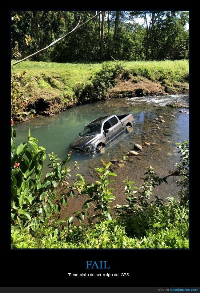 coche,fails,río