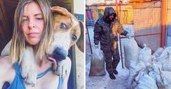 Enlace a Esta famosa fotógrafa rusa dejó su carrera para vivir en un bosque con 100 perros enfermos