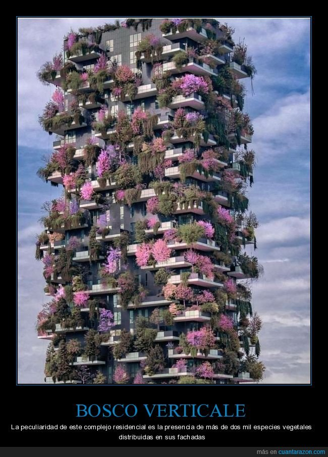 bosco verticale,edificio,plantas,vegetación