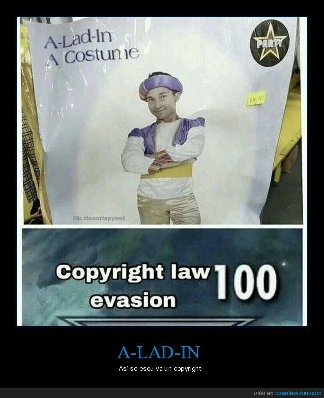 aladdin,copyright,disfraz