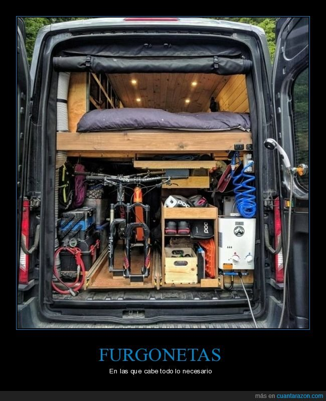 cama,equipamiento,furgoneta
