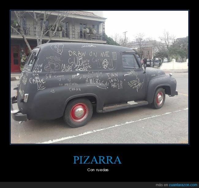 coche,dibujar,pizarra