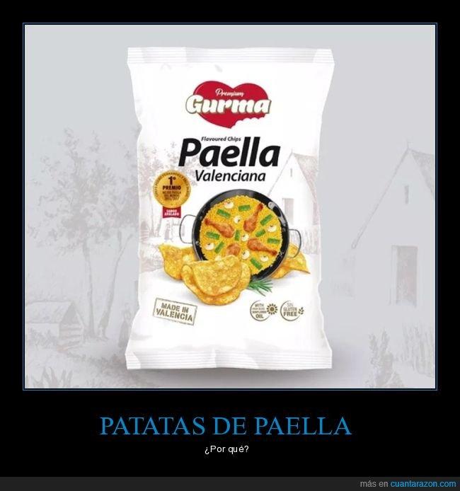paella,patatas,patatas fritas,wtf