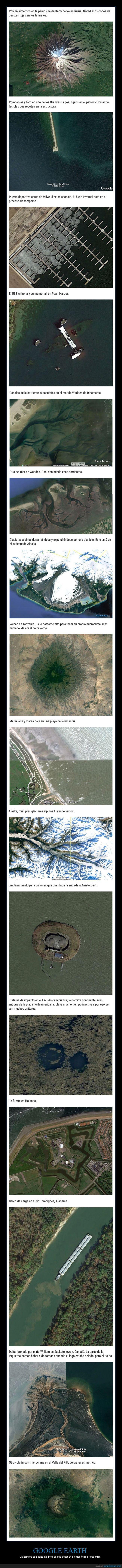descubrimientos,google earth