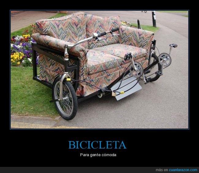 bicicleta,sofá,wtf