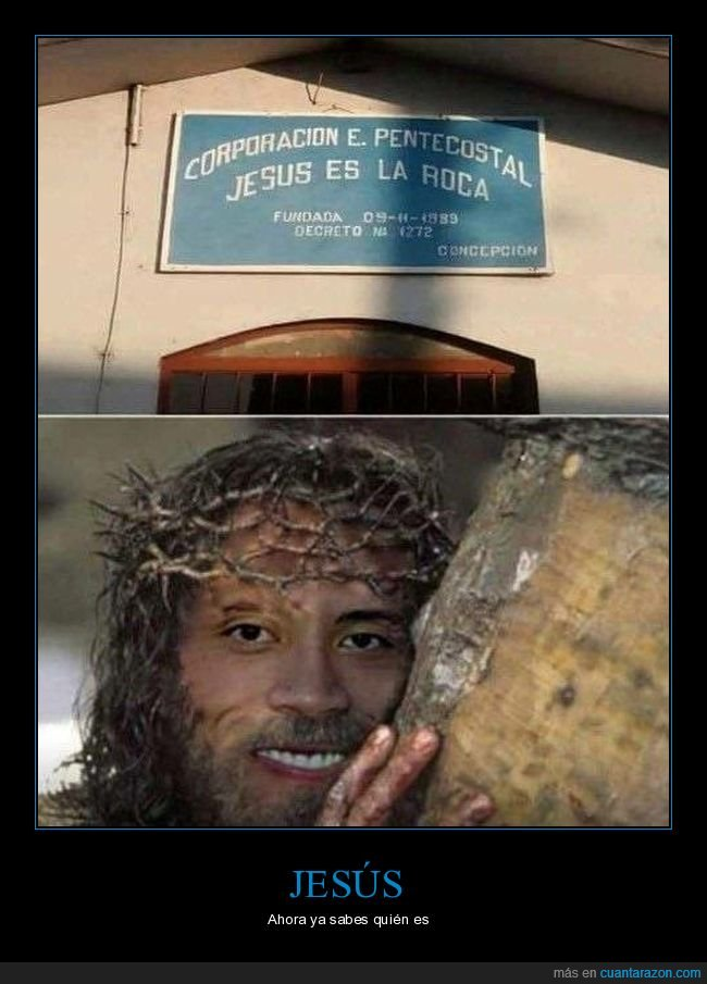 absurdo,jesús,la roca,the rock