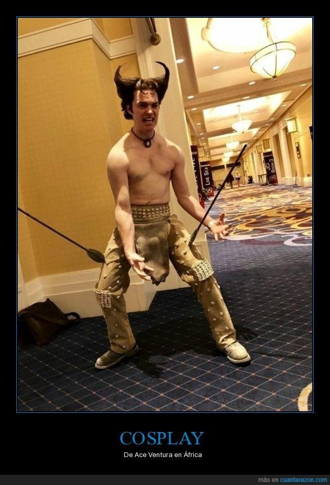 ace ventura,cosplay,lanzas