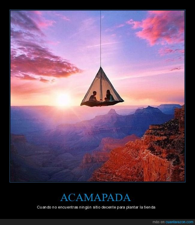 acampada,colgando,tienda de campaña,wtf