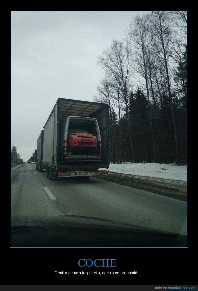 camión,coche,furgoneta