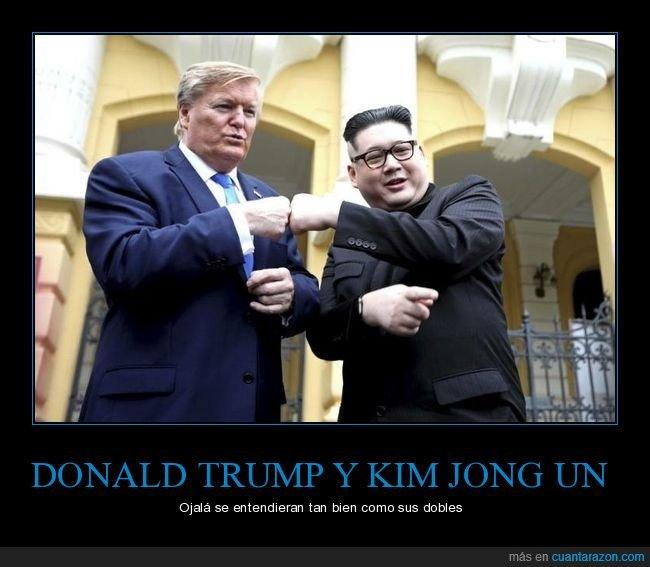 dobles,donald trump,kim jng un,políticos
