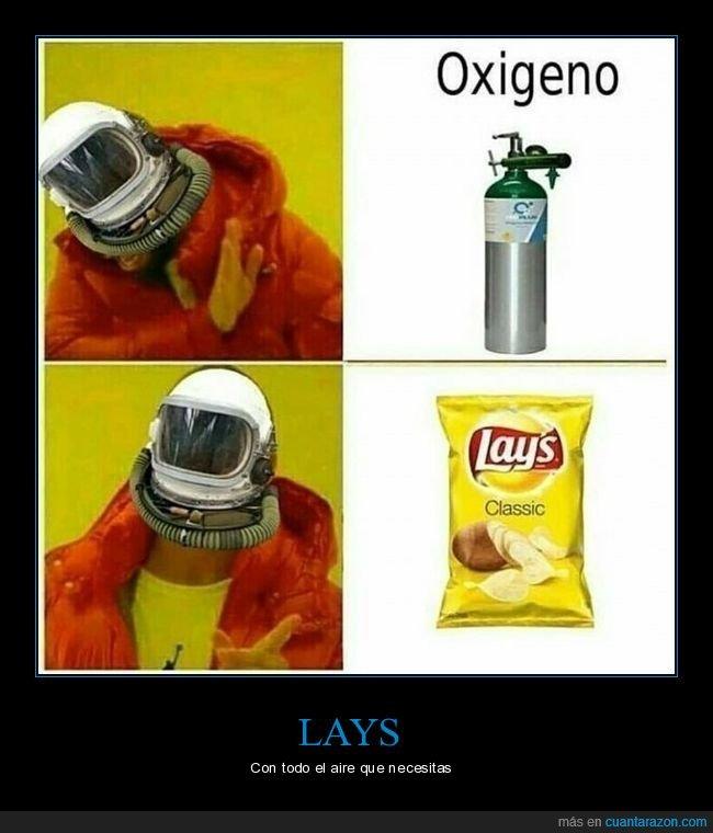aire,bolsa de patatas,lays,oxígeno