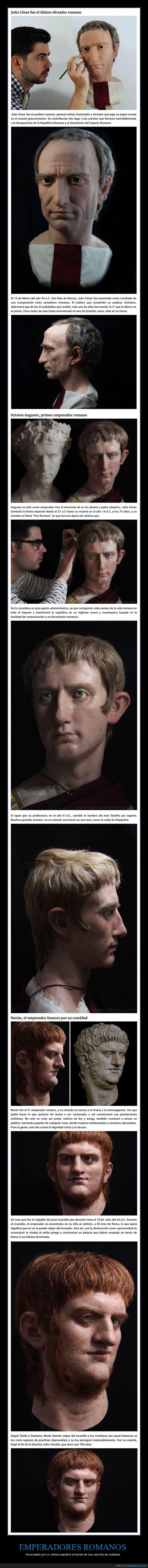 emperadores romanos,esculturas,realistas,roma