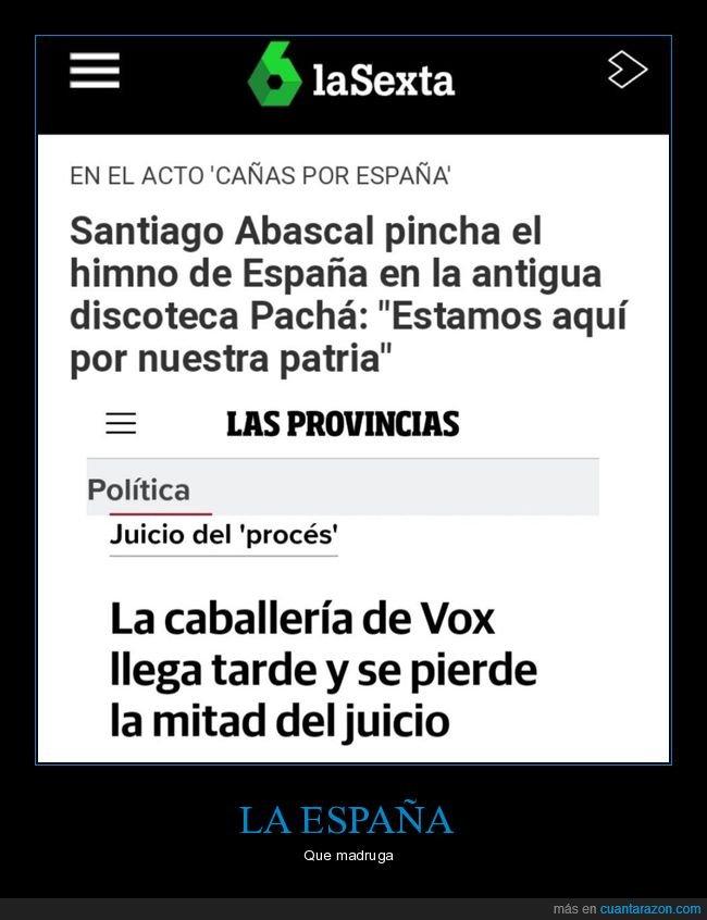 dj,juicio,llegar tarde,santiago abascal,vox