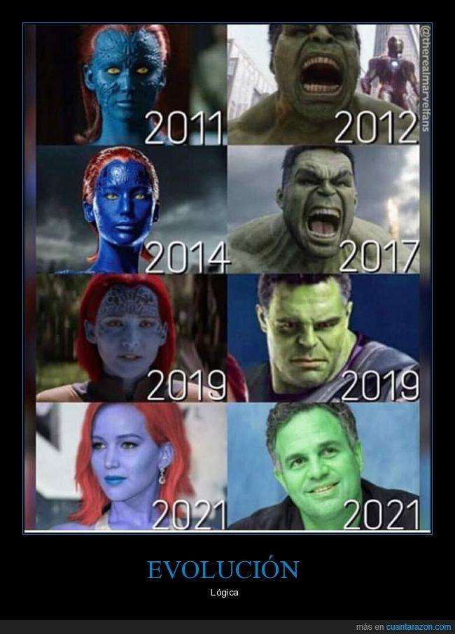 evolución,hulk,mística