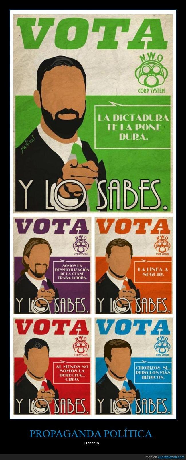 honesta,políticos,propaganda,votar